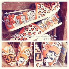 OSU Oklahome Statue University Pistol Pete custom toms shoes