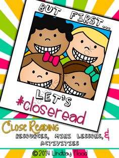 Close Reading Selfie Mini-Lessons and Activities from PrimaryPolkaDots on TeachersNotebook.com -  (30 pages)  - Perfect for CLOSE READING!