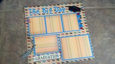 Premade 12x12  Graduation  Scrapbook Page
