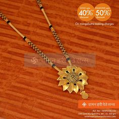 """The Indians are quite acquainted with the term """"mangalsutra"""" where mangal means auspicious and sutra means thread or dhaga.Below are some latest mangalsutra designs of which will definitely strike your mind to have these collections. Gold Mangalsutra Designs, Gold Jewellery Design, Bridal Jewelry, Beaded Jewelry, Jewelry Bracelets, Gold Jewelry Simple, Long Pearl Necklaces, Gold Ornaments, Schmuck Design"""