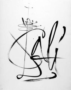 Bilderesultat for salvador dali gala on paintings Bird Drawings, Animal Drawings, Typography Letters, Hand Lettering, Pablo Picasso, Salvador Dali Kunst, Salvador Dali Tattoo, Figueras, Artist Signatures