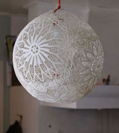DIY Wedding Table Decoration Ideas - Lace Lamp - Click Pic for 46 Easy DIY Wedding Decorations