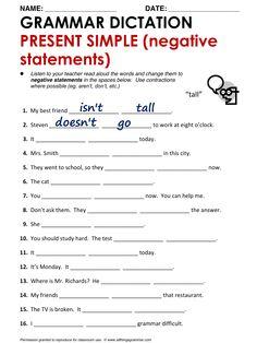 English Grammar Present Simple (Negative Statements) www.allthingsgrammar.com/present-simple.html