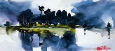 Summer storm by Mishelangello on DeviantArt Watercolor Landscape, Watercolor Paintings, Watercolors, Photoshop Cs5, Shutter Speed, Creative Art, Deviantart, Summer, Gifs