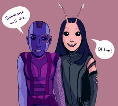 Nebula and Mantis