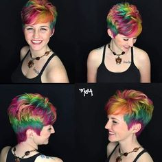HOW GORGEOUS IS THIS PIXIE RAINBOW. > What a great cut @misheledimariadesigns