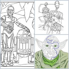 Star Wars Party Activities: 6 Star Wars Coloring Pages | Spoonful