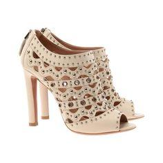 AZZEDINE ALAÏA Studded leather shoe-boots ($940) ❤ liked on Polyvore