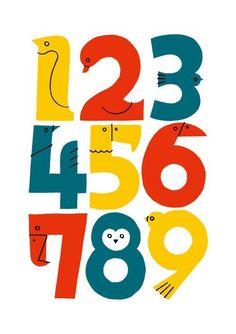 Bird Numbers #lettering