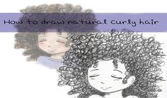 How to draw natural curly hair (ink pens)