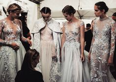 The Snow Maiden: Backstage at Paolo Sebastian Couture Fall/Winter 2016. Photo by Meaghan Coles.