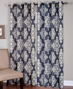 Global studies. Bring out your inner wanderlust with the Medina linen panel from Elrene, featuring an exotic ikat print for a bold look. | Polyester/linen | Machine washable | Imported | Each panel is