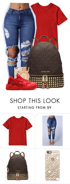 """"""" Yea that's my Mce """" by mindlesspolyvore ❤ liked on Polyvore featuring Michael Kors, Casetify and NIKE"""