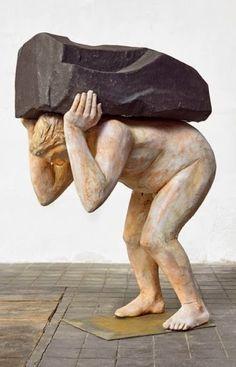 Francisco Leiro Human Sculpture, Garden Sculpture, Male Torso, Wood Carving, Wood Art, Outdoor Decor, Projects, Sculptures, Wood