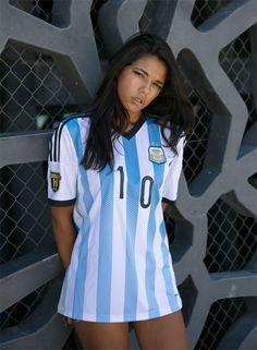ed7f01955d4 Argentina home jersey Pelli badge Football Shirt Designs
