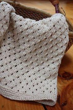 Cobertor para bebê em tricô