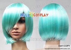 Light Blue Bobo Cosplay Short Wig