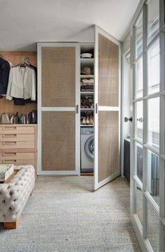 how to hide a little laundry room