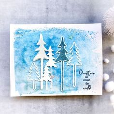 Look what I found on AliExpress Chrismas Cards, Christmas Cards To Make, Xmas Cards, Diy Cards, Holiday Cards, Christmas Crafts, Christmas Trees, Embossed Paper, Embossed Cards