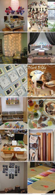 kita rume Reggio Emilia inspired classroom-- Shows good example of how the children's work will be displayed- the tree Reggio Emilia Classroom, Reggio Inspired Classrooms, Reggio Emilia Preschool, Toddler Classroom, Kindergarten Classroom, Classroom Setting, Classroom Decor, Montessori, Kind Photo