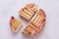 My Vibrant Kitchen   Vegan Baked Rhubarb Vanilla Cheesecake (nut free and high in protein)   http://myvibrantkitchen.com