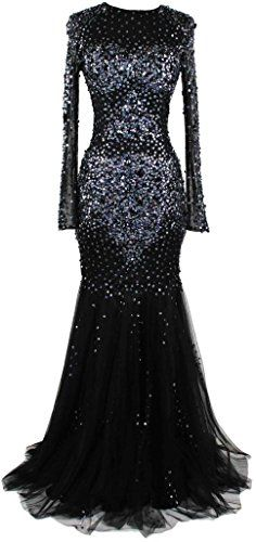 Meier Women's Long Sleeve Sheer Top Beaded Mermaid Prom Evening Formal Dress Black-4 Meier http://www.amazon.com/dp/B00O17SZC8/ref=cm_sw_r_pi_dp_RHLZub1T584W8