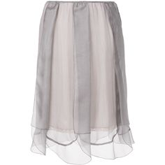 Prada layered tulle slip skirt (€680) ❤ liked on Polyvore featuring skirts, grey, double layer skirt, grey skirt, tulle skirt, slip skirt and prada