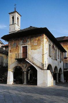 Community palace 1582 Orta San Giulio Lake Orta Piedmont Italy