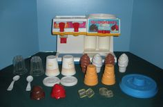 Fisher Price Fun With Food #2118 McDonald's Soda Fountain Play Set COMPLETE  $80  #teamsellit