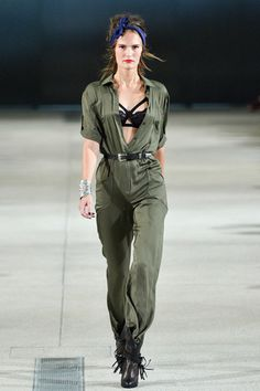 Alexis Mabille 2014 Ready-to-Wear Collection on Style.com: Runway Review Here, that modus operandi was evidenced in a myriad of slinked-out and/or be-flounced adaptions of workwear, such as the military jumpsuit and the denim dungaree.
