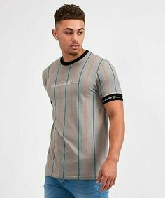 Kings Will Dream Lifton T-Shirt Grey / Orange / Grey / White Orange Grey, Grey And White, White Fashion, Fashion Clothes, Online Price, Streetwear, King, Best Deals, Mens Tops