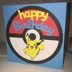 Pokémon Pikachu Birthday card for kids boys