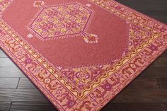 ZHA-4005, #surya. zahra. 100% wool. hand knotted. thin pile. india.