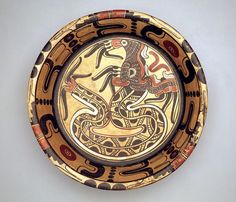 Tripod plate with plumed serpent Date: c. A.D. 900-1200. Geographic location:  Tuxtla. Estado de  Chiapas-Mexico