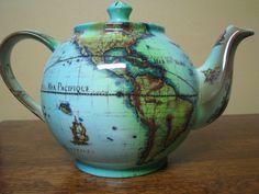 Cardew Terrestrial World Globe Tea Pot Made in England!