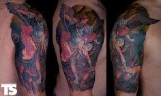 Saint Michael Tattoo Sleeves St Michael Tattoo Legs Tattoo Design ...