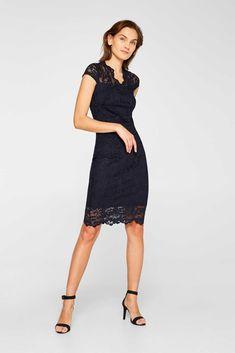 Etui-Kleid aus Spitze mit Stretchkomfort Chiffon, Komplette Outfits, Dresses For Work, Formal Dresses, Models, Sexy, Black, Golf, Fashion
