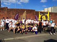 The Le Tour de Recovery Team in Darlington - near the end of their bike ride! #cycling #recovery #support #alcohol #drugs #RecoveryMonth  You can support them at: http://campaign.justgiving.com/charity/aquarius-actionprojects/letourderecovery