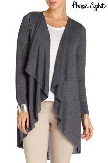 Dark Grey Textured Waterfall Cardigan | New Look | WARDROBE ...