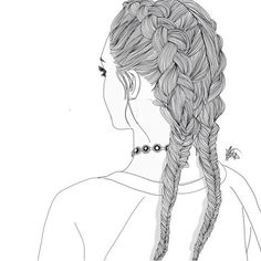 Black And White Drawings Of Girls love this [credit to owner] paintmysoulwhite credit to owner// paintmysoulwhite {credit to own.