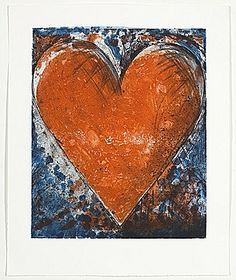 Jim Dine, Red Stamp, 2010  Soft ground etching, Drypoint and Carborundum, 23 1/4 x 19 1/4 in (59.1 x 48.9 cm)  Numbered Edition of 35