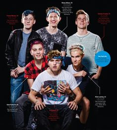 I think some of the ages are wrong because When that picture was taken Kian was 18 and so was Sam.
