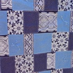 for a girl .... The Lacey Denim Quilt. $75.00, via Etsy.