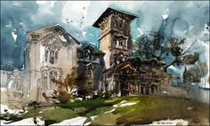 Marc Holmes-Artwork, Watercolor, buildings.  Marc Holmes-Artwork Marc Taro Holmes is an Art Director, Concept Artist and Illustrator with over 15 years of experience in the games industry and feature animation. His credits include Baldur's Gate 1 & 2, Neverwinter Nights II, Lord of the Rings Online, Age of Empires III and A Christmas Carol. His illustrations have appeared on the covers of PC Gamer, Computer Gamer, Play Magazine as well as being featured on the E3 Expo banner. Read on what…