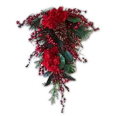 Christmas Floral Berry Hydrangea Drop - 71cm - Christmas Elves