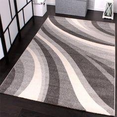 PHC - Tappeto moderno per soggiorno e altro con motivo a onde, colore: Grigio 160 x 230 cm: Amazon.it: Casa e cucina