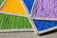 Four all over machine quilting patterns and how to master them including general machine quilting tips.