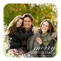 Snowflake Border Christmas Cards