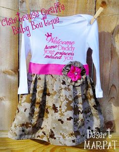 PERSONALIZED Military Homecoming Dress (All Branches). $32.00, via Etsy.