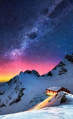Night sky mountains wallpaper